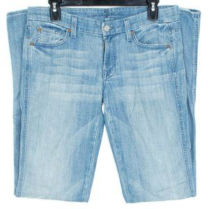 7 For All Mankind Womens Jeans A Pocket Blue 28 FP